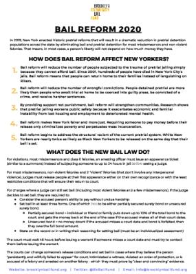 Bail Reform 2020